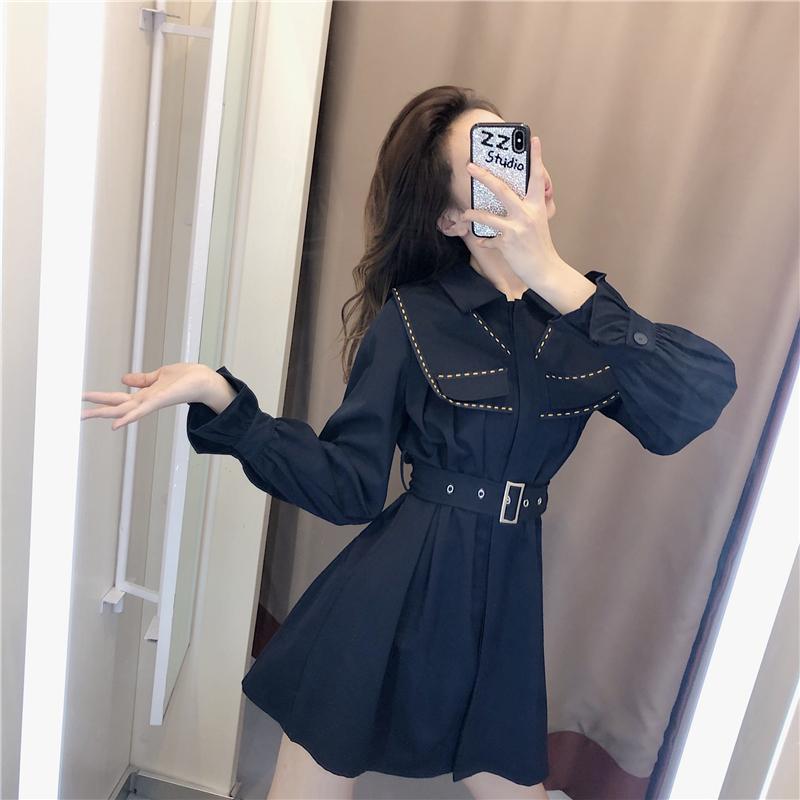 法式连衣裙2020年新款女装春季流行新年衣服小个子显瘦内搭打底裙