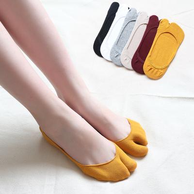二趾襪夏季人字拖襪隱形低幫淺口防滑分指分趾兩指二指襪日系COS