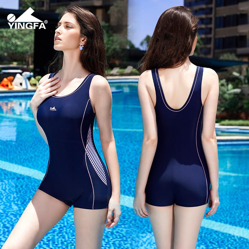 英发游泳衣女士2019年品牌新款潮保守型遮肚显瘦连体平角温泉泳装