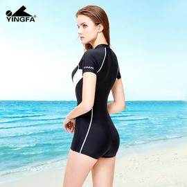英发游泳衣女2020年性感新款保守型遮肚显瘦连体学生专业运动泳装