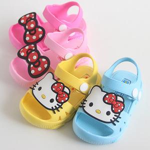 猫咪卡通儿童凉鞋男女童防踢宝宝学步鞋1-2-3岁防水小孩子沙滩鞋
