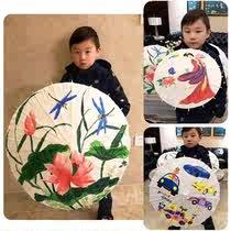 雨傘繪畫裝飾小傘空白白色彩繪畫畫油紙傘卡通手工道具傘學生個姓
