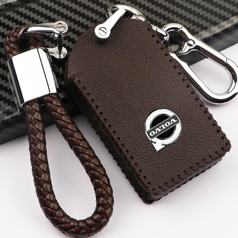 沃尔沃钥匙套20/21款xc60S90xc90xc40v90S60汽车真皮钥匙套包扣壳