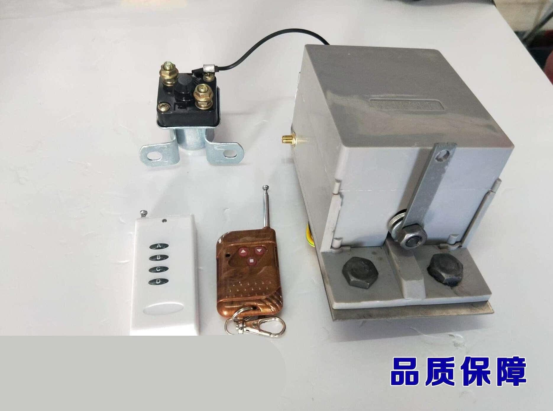 单杠柴油机免摇器启动器 电启动 12v马达继电器一键启动遥控配件