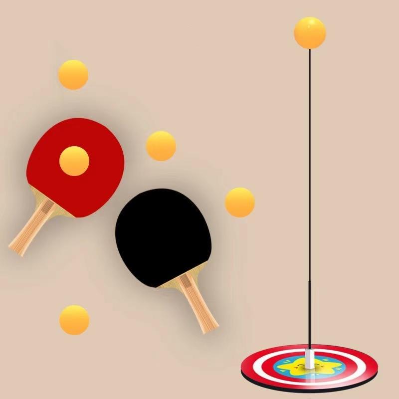 抖音爆款弹力软轴乒乓球训练器自练神器儿童兵乓球玩具家用健身器