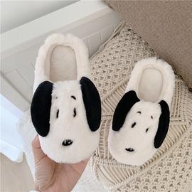 宝宝棉拖鞋可爱卡通小狗狗儿童男童女童防滑保暖毛绒棉鞋亲子家居