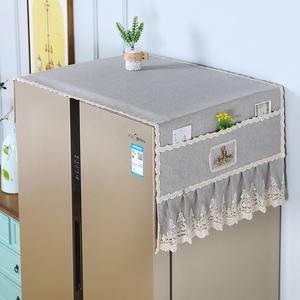 新款冰箱盖布防尘罩对双开门单开门布艺洗衣机滚筒冰箱罩套盖布巾