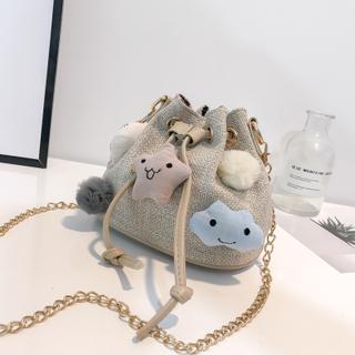 上新链条包包女2018韩版潮可爱卡通水桶包少女学生单肩新款斜挎包
