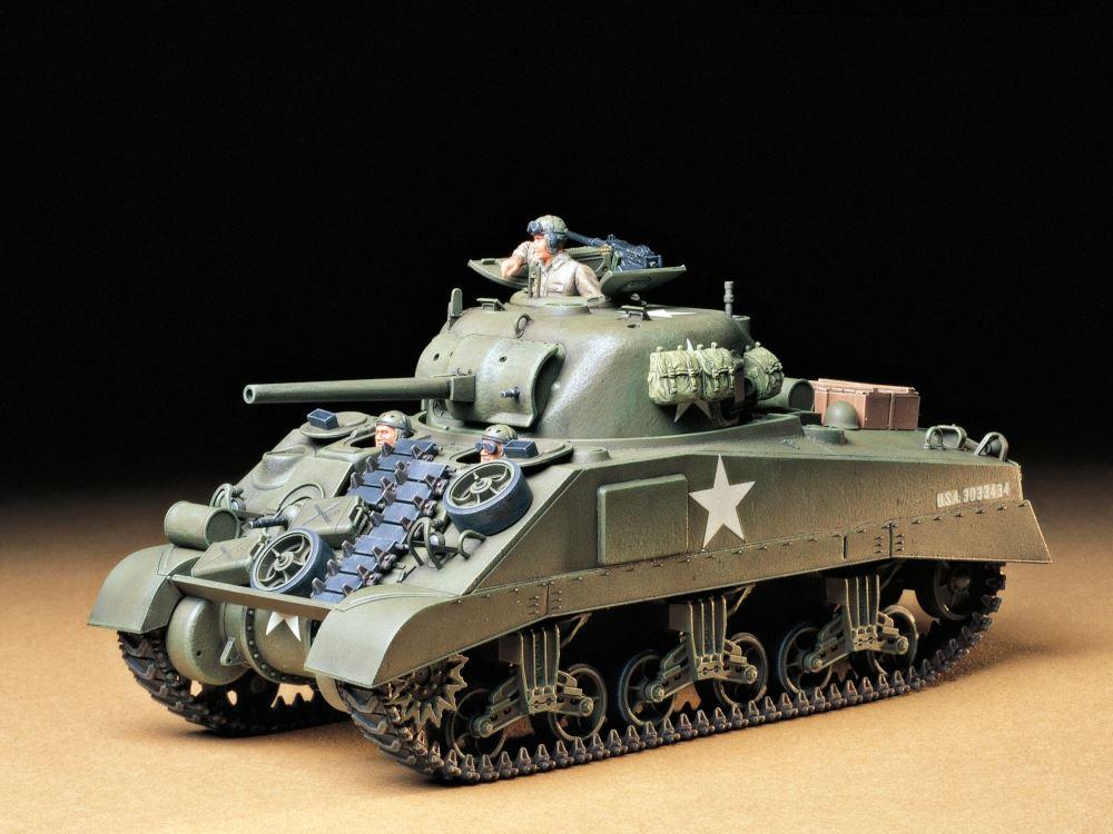 √ 田宫坦克模型 1:35 美军 M4谢尔曼早期型 坦克 35190