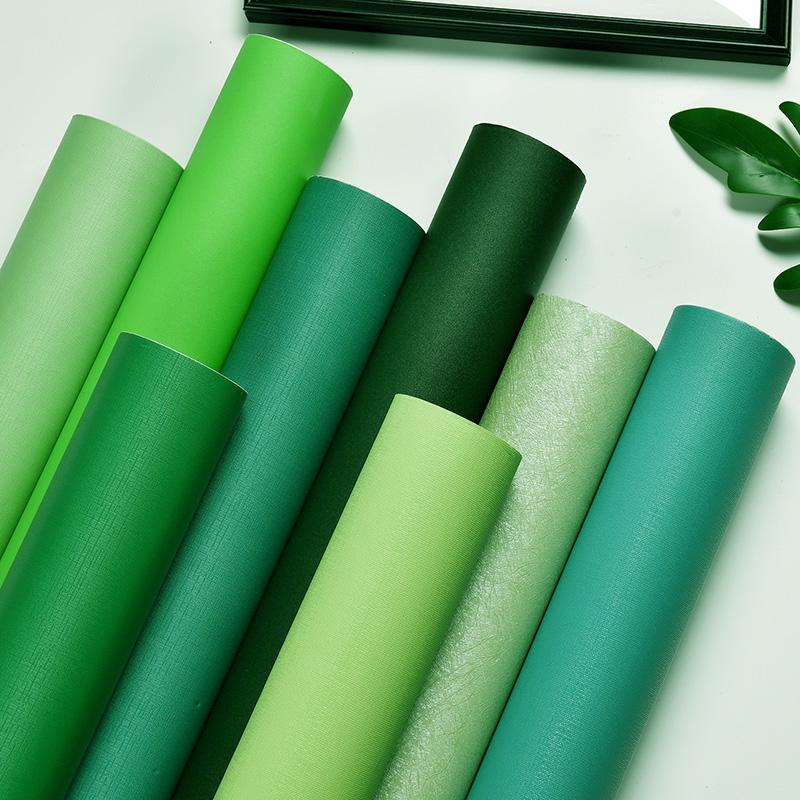 自贴纯色深绿色墨绿色防水寝室墙纸评价好不好?
