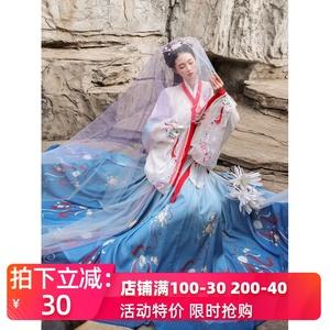 【桃烟】汉服女正品原创中国风夏季仙气飘逸古风即将绝版汉服全套图片