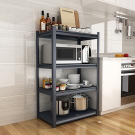 厨房置物架碳钢收纳落地多层微波炉烤箱金属大架子电器整理储物架图片