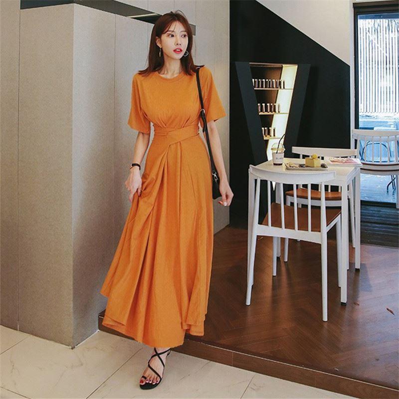 (用117.6元券)热高个子170显瘦显高超长气质长裙