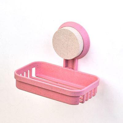 日本粘贴吸壁式卫生间免钉吸盘肥皂架子香皂盒子挂墙上的在免打孔