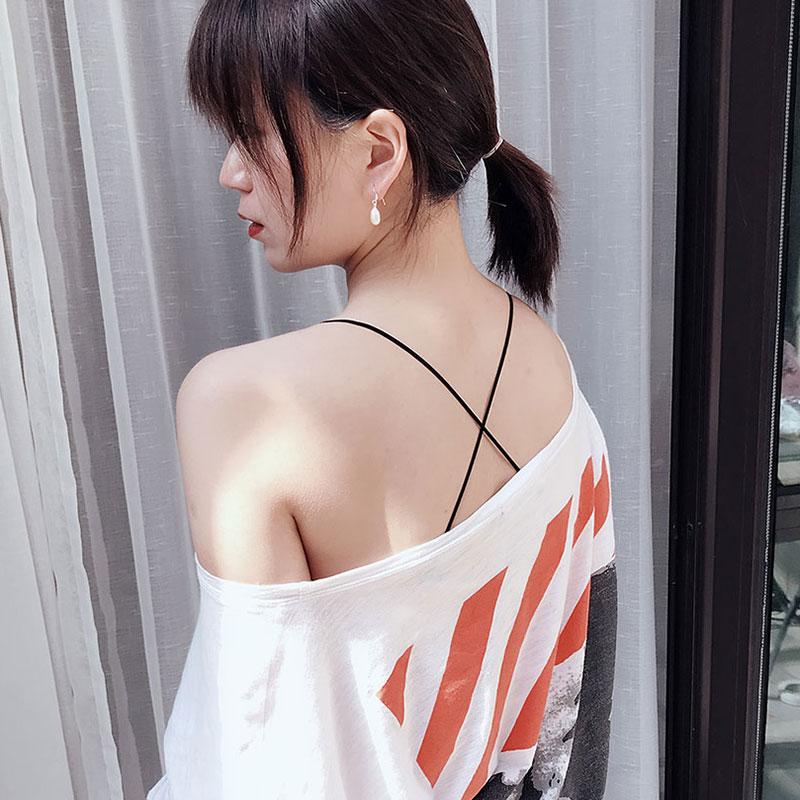 美背內衣帶細帶交叉肩帶掛脖隱形文胸性感透明肩帶配件女胸罩帶夏
