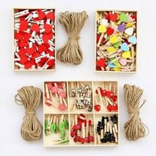 照片墙装饰麻绳夹子网红创意个性家庭免打孔挂钩房间挂绳装饰墙
