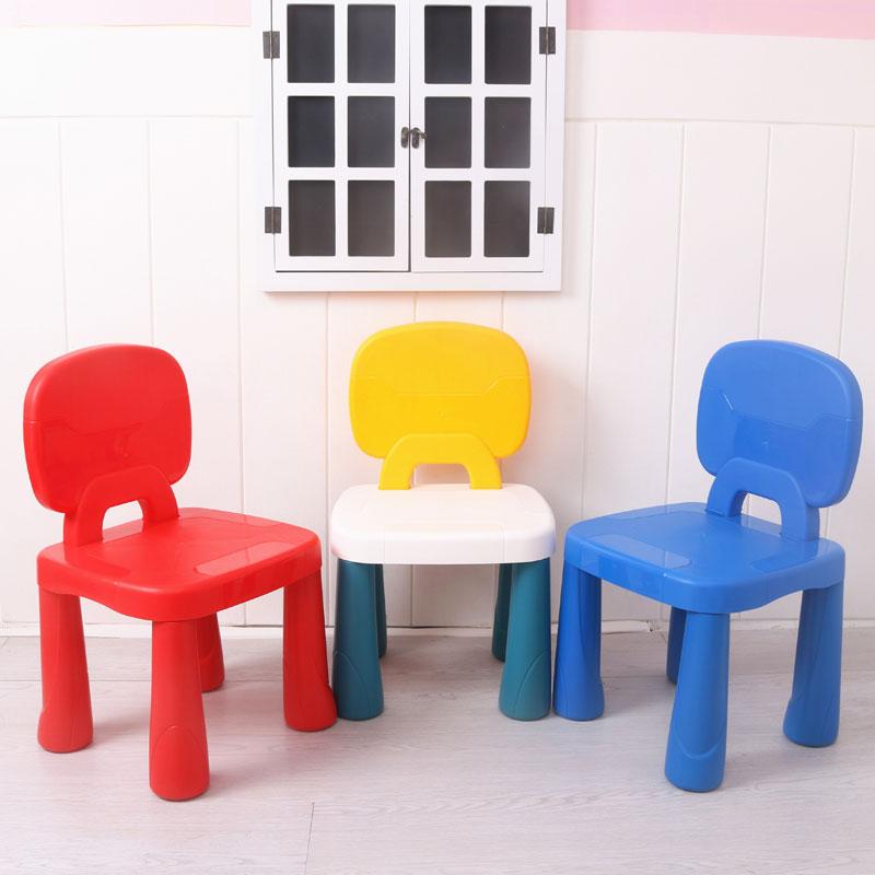 儿童靠背椅子塑料加厚家用凳子餐椅宝宝小板凳幼儿园儿童塑料凳子11-30新券