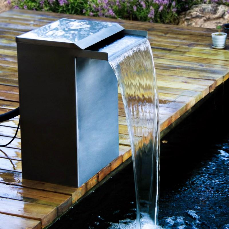 魚池過濾器瀑布造景過濾設備魚池水幕墻池塘過濾箱魚池水循環系統