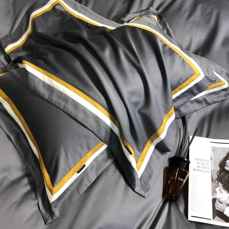 健康A类轻奢风100支长绒四件套全棉纯棉床单被套纯色酒店床上用品