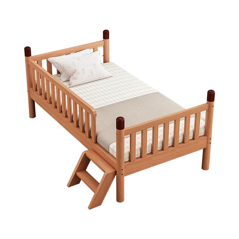 实木带护栏男孩小孩床边加宽婴儿床质量好不好