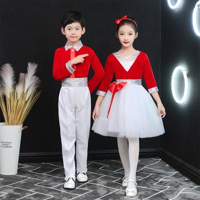 元旦儿童合唱服演出服中小学生大合唱表演服诗歌朗诵合唱团演出服