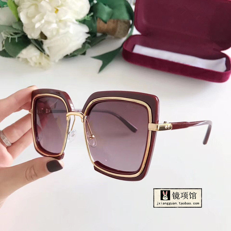 [] 2019 new womens personalized Sunglasses large frame fashion trend square polarized light