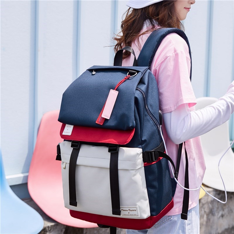 Schoolbag female Korean version of high school backpack 2020 new versatile high school students campus backpack computer bag