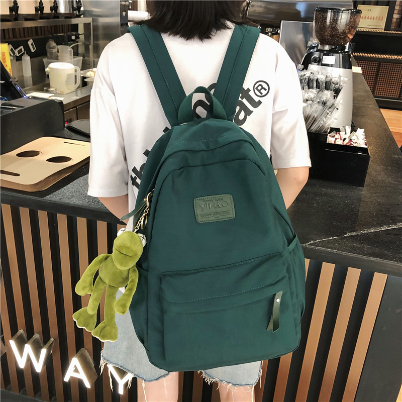 Ins style schoolbag female college students Korean version Japanese backpack schoolyard Forest Department high capacity junior high school students backpack man