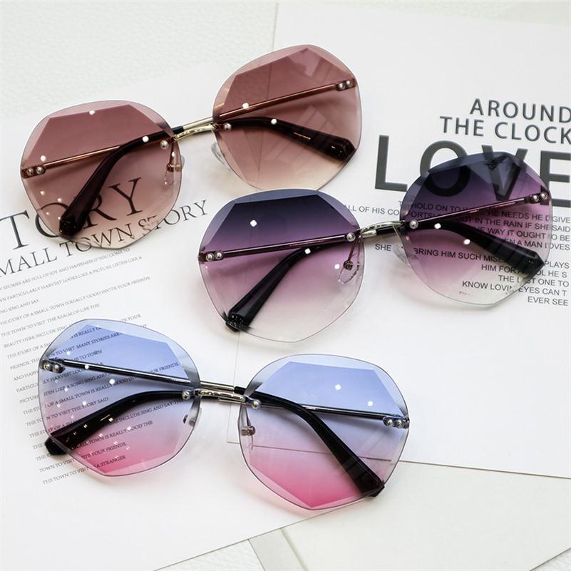 音彩色超大粉色可配潮流框2019年新款太阳镜女款复古防晒边框可爱