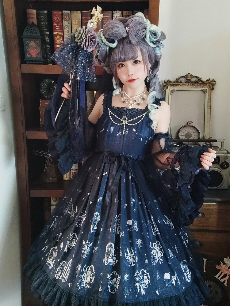 [final version] original Lolita skirt of magic star bubble fish jsk elegant and gorgeous Lolita