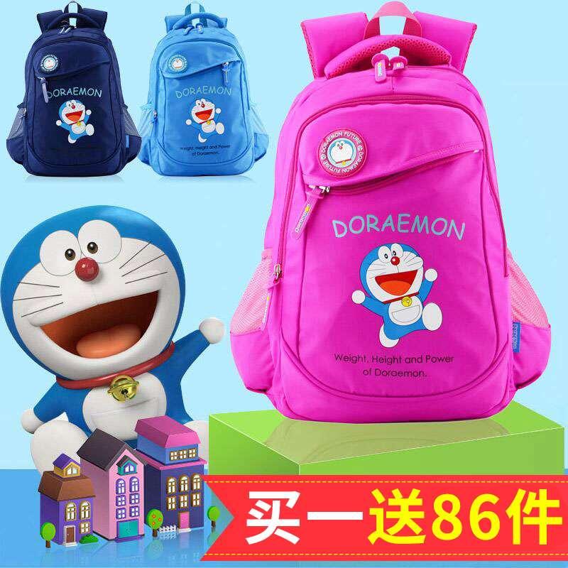 小学生书包男1-6年级哆啦a梦儿童男童减负护脊双肩包女韩版