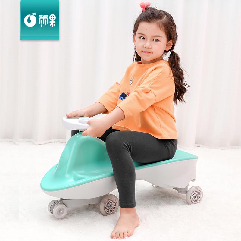 12月01日最新优惠静音闪光摇摆滑滑车儿童扭扭车1-3岁女孩子玩具宝宝溜溜车