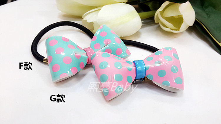 Azur AZ wave point / small Shuiyu stereo hair rope hairband imported from South Korea