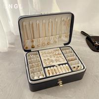 大容量多层首饰盒欧式高档奢华耳环耳钉项链戒指饰品展示收纳盒
