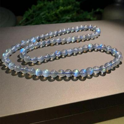 Factory direct selling natural grey moonlight Bracelet Fashion three circle elongated Stone Bracelet manufacturer