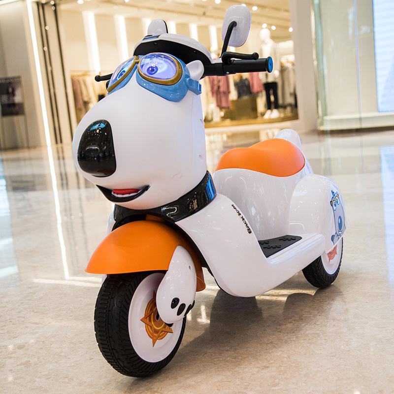 儿童电动摩托车可坐小孩充电三轮车好不好
