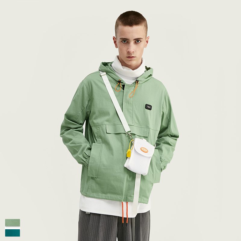 New European and American fashion brand personalized Street mens hooded functional style jacket in spring and autumn of 2019