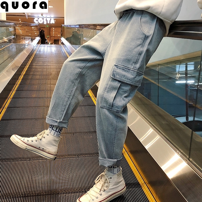 Spring and summer daddy jeans trendy pants mens local style with Martin boot work clothes liuzai Niuzi AMI Kaji jeans