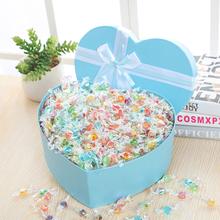 千纸鹤糖果礼盒装炫彩色透明纸水果话梅糖开学季送同学礼物男女友