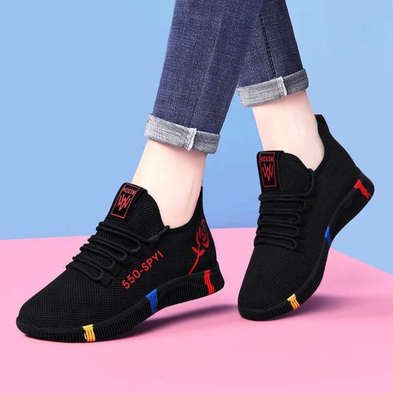 运动鞋女士健步网面鞋老爹鞋休闲妈妈春秋季新款旅游时尚百搭单鞋