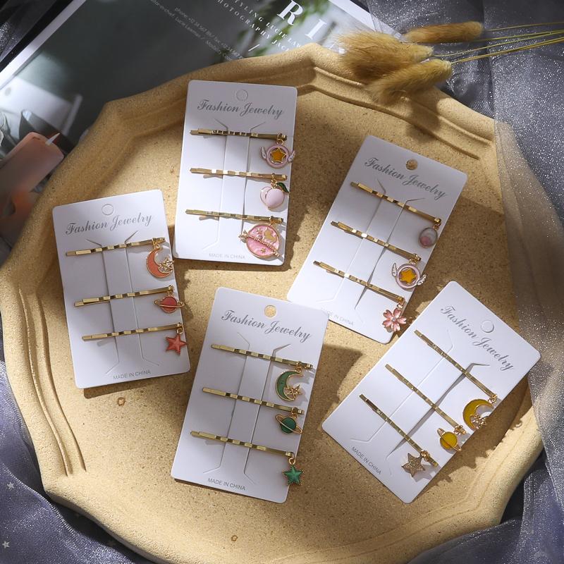10月25日最新优惠彩色一字夹韩国泫雅同款网红小发夹卡子水果夹少女发卡刘海夹头饰