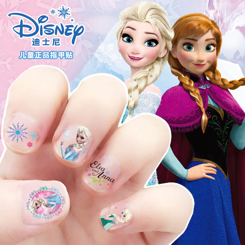 Disney children's nail stickers women's baby nail full tattoo stickers women's Snow Princess cartoon nail stickers