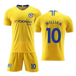 切尔西球衣19-20主场足球服套装男成人儿童学生比赛训练队服定制