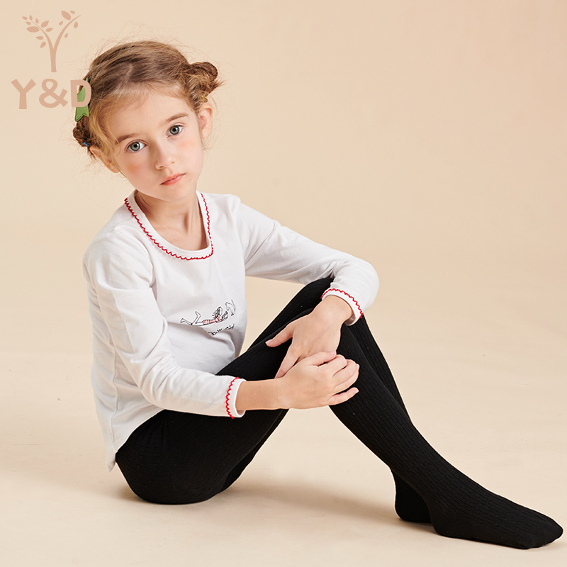 Girls pantyhose spring and autumn girls bottomed pantyhose middle big childrens baby pantyhose childrens White Dance Socks New Style