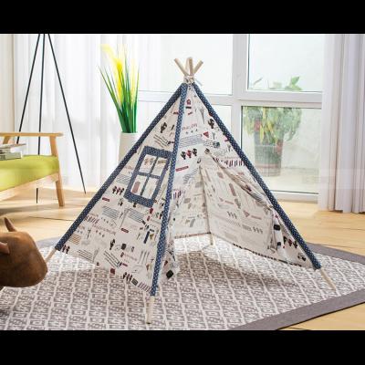 儿童摄道2具纯棉布室内帐篷楼婴儿满月百天拍照辅助实景小道具 1