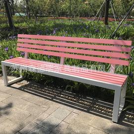户外公园排椅学校广场靠背座椅 公共休闲长椅景区排椅铸铝塑木椅图片
