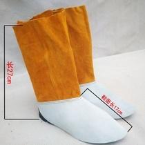 脚罩厂家防烫劳保防油脚套护腿电焊工护脚头层全牛皮防护脚盖