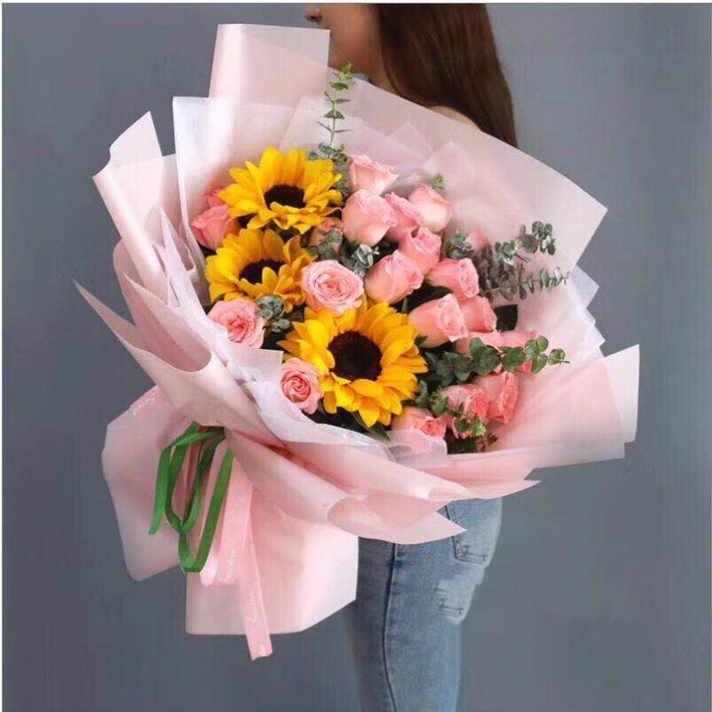 鲜花速递同城北京上海西双版纳玫瑰闺蜜生日韩式花束送景洪市