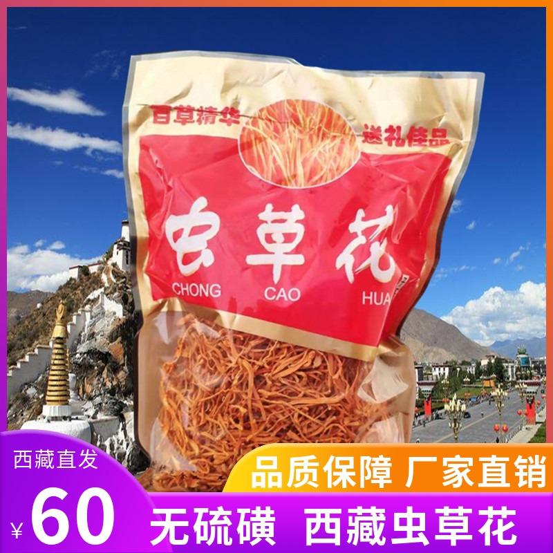 西藏特产西藏虫草花干货煲汤材料孢子头金虫草无硫蛹虫草500g包邮