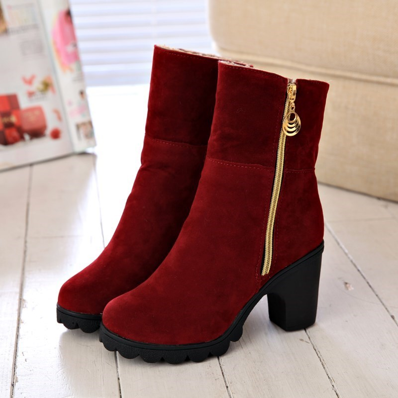 South Korea's popular winter ladies shoes in boots this year, new autumn and winter 2020 high